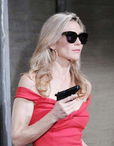 Don some sunglasses, a fake pistol, a great looking Hollywood wig, and a tight dress, and become DAYS villainess Kristen DiMera