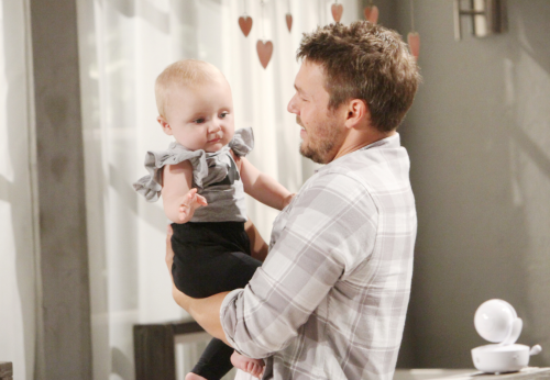 First time Dad's out there ... If you want to dress up your baby for their first Halloween .. get a plaid shirt for yourself and a a faux beard ... and for baby a cute little dress that resembles this scene from B&B and go as Liam and his daughter, baby Beth!