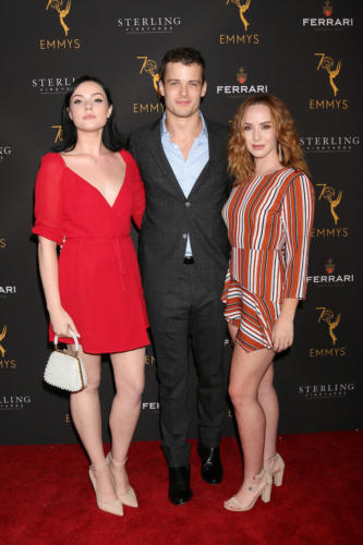 Y&R's Michael Mealor flanked by Cait Fairbanks and Camryn Grimes.