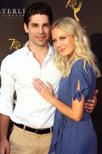 Y&R's Melissa Ordway with her hubby, former DAYS star, Justin Gaston.