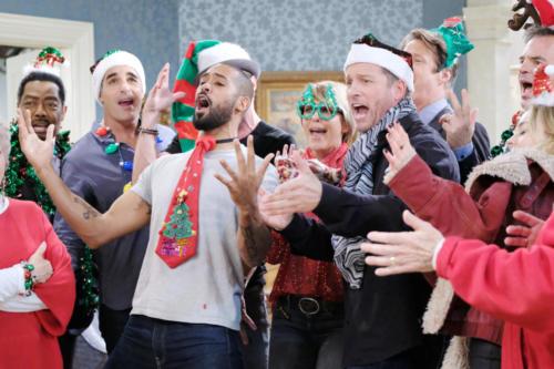 "DAYS cast rehearsing ""Jingle Bells"" for the DOOL app Xmas video."