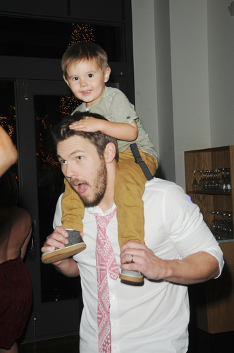 B&B's Scott Clifton brought his son, Ford to the shows holiday party.