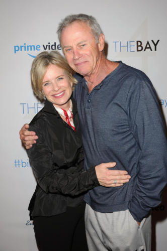 The Bay's Mary Beth Evans and Tristan Rogers at the series Xmas gathering.