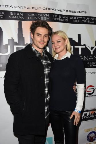 Y&R's Adam and Sharon, Mark Grossman and Sharon Case attended the screening.