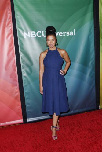 Susan Kelechi Watson strikes a pose for the press at the NBC TCA's as 'This Is Us' returns this week with all-new episodes.