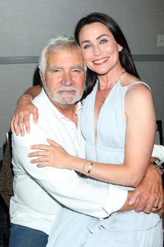 John McCook with his on-screen lady love, Rena Sofer.