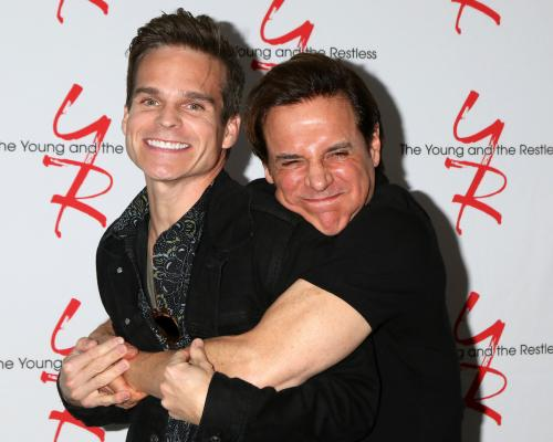 Brothers in Arms: Those Fisher bad boys: Greg Rikaart and Christian LeBlanc.
