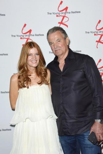 Michelle Stafford with Eric Braeden.