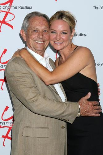 Sharon Case along with her dad, Jim.