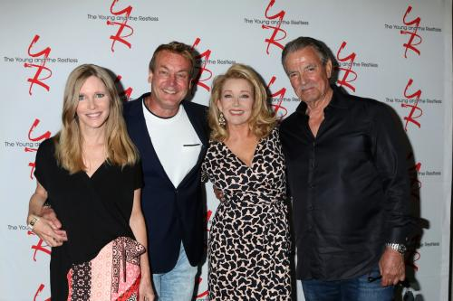 Lauralee Bell, Doug Davidson, Melody Thomas Scott, and Eric Braeden strike a pose.