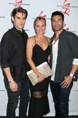 This on-screen triangle hit the stage: Mark Grossman, Sharon Case, and Jordi Vilasuso.