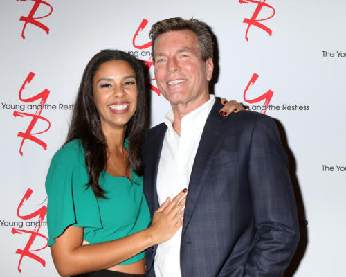 Peter Bergman and his new leading lady, Alice Hunter.