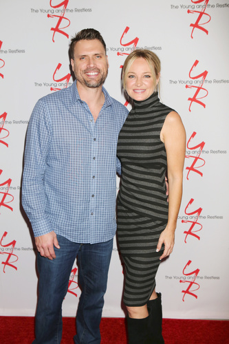 Shick is in the house! Joshua Morrow and Sharon Case.