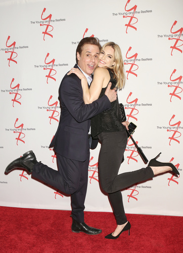 Kelly Kruger and Christian LeBlanc doing the happy-dance!