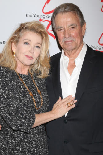 Y&R icons, Melody Thomas Scott and Eric Braeden