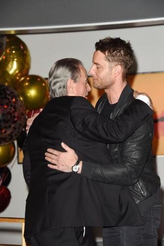 Big hug from the former Adam Newman, Justin Hartley for Eric.