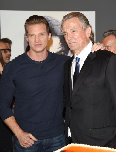 GH and former Y&R star, Steve Burton on-hand to wish Eric a happy 40th.