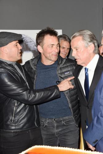 Billy Zane and GH's James Patrick Stuart celebrated Eric at the on set celebration.