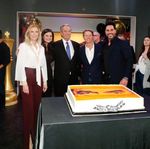 The gang from B&B was in attendance too: Katherine Kelly Lang, Heather Tom, Brad Bell & Don Diamont.