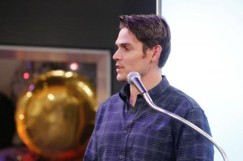 Mark Grossman, the newest Newman, offered his thanks and congrats to his on-screen dad.