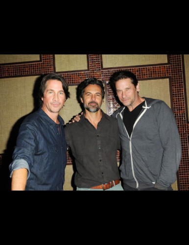 Michael Easton (Finn) and Roger Howarth (Franco) had a special guest at their event  ... Jeffrey Vincent Parise (Ex-Carlos/Joe)